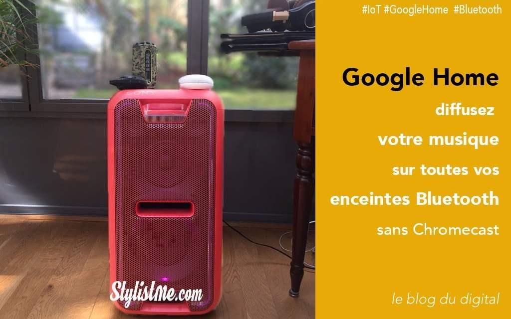 Comment connecter une enceinte bluetooth à Google Home sans Chromecast [Tuto]