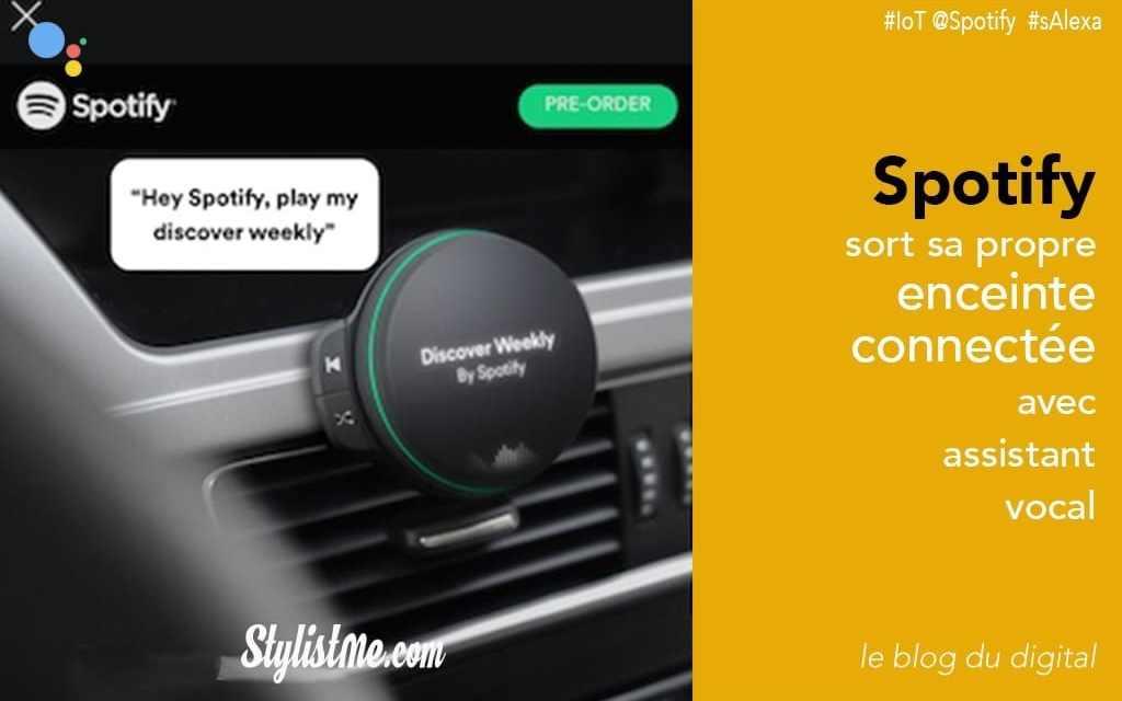 Enceinte connectée Spotify ou de la musique en streaming pour la voiture