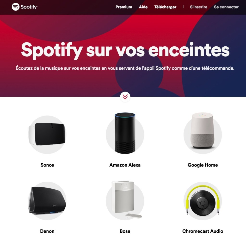 Spotify enceintes bluetooth compatibles