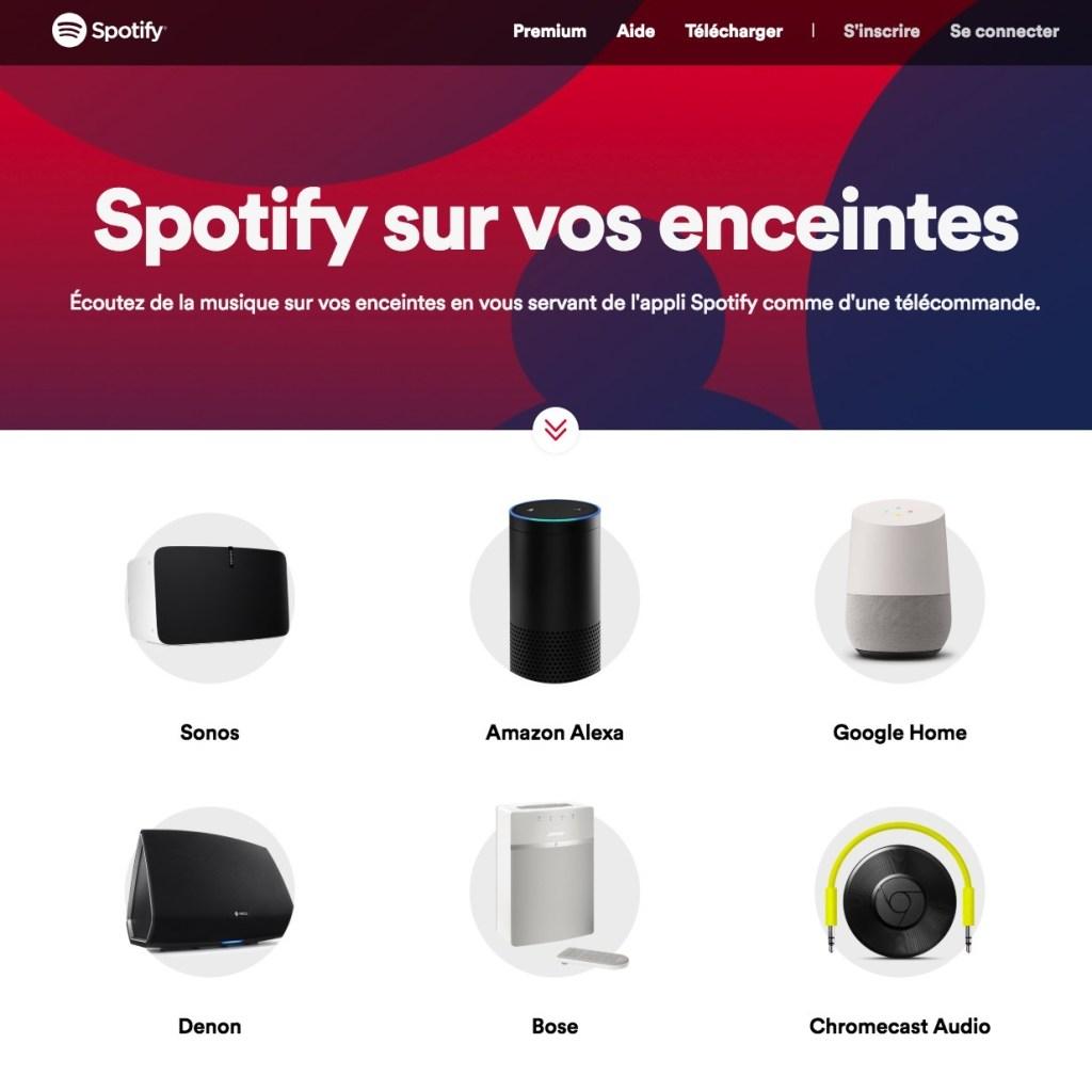 Spotify enceintes bluetooth compatibles
