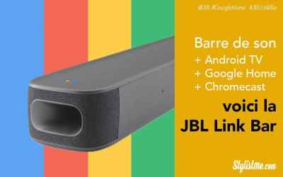 JBL Link Bar, barre de son avec Google Assistant, Chromecast et Android TV