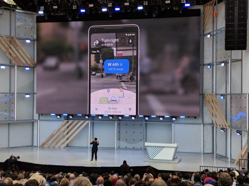 google io 2018 google maps mise à jour