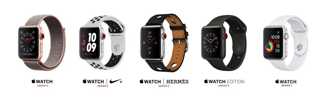 marché montre connectée 2018 apple watch séries 1 2 3
