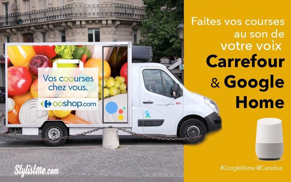 Google Home pour faire vos courses chez Carrefour à la voix