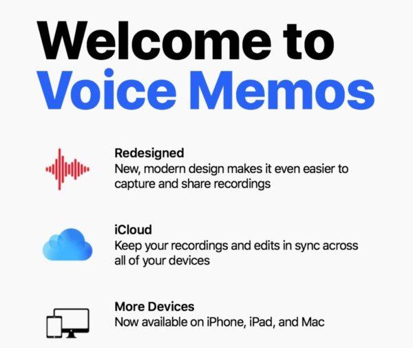 app voice memo dictaphone Mojave
