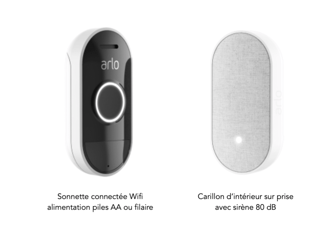 Arlo audio doorbelle sonnette et carillon connectés