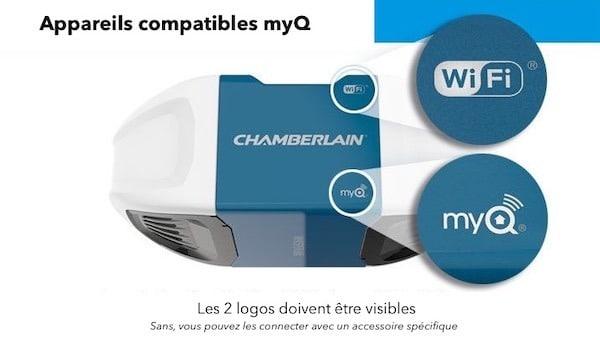 Automatisme de garage Chamberlain MyQ Goolge Home HomeKit Maison Homepod ifttt