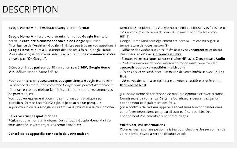 7 techniques SEO pour optimiser votre site e-commerce descriptif produit