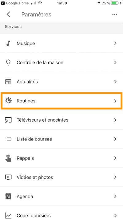 comment lancer google home routines acces