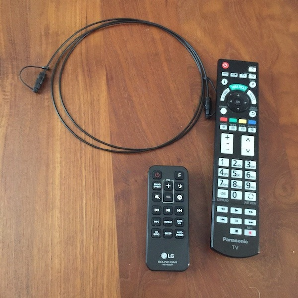 LG SJ6 avis test télécommande câble optique