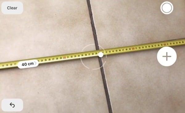 measure app ios 12 précision