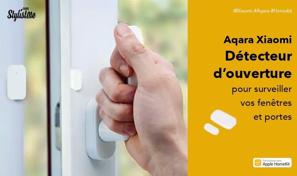 Détecteur d'ouverture de porte et de fenêtre Aqara compatible HomeKit