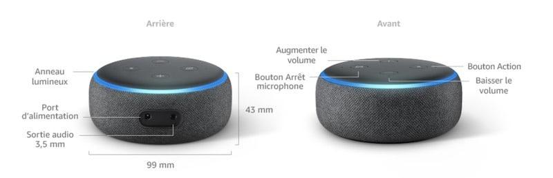 Amazon Echo dot 3 caractéristiques