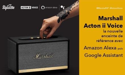 Marshall Acton ii Voice avis test enceinte Google Assistant et Alexa