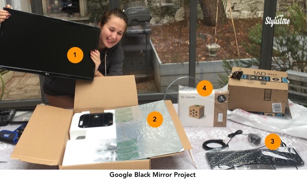miroir connecté avec reconnaissance Google Assistant projet : réception des composants
