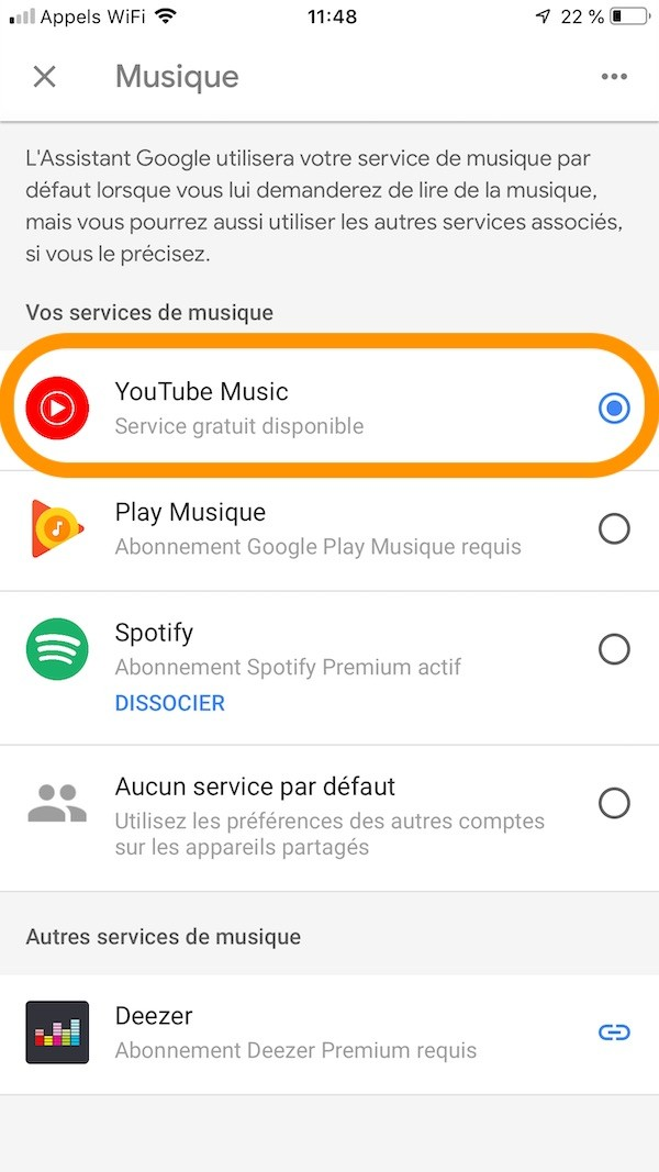 youtube music gratuit google home