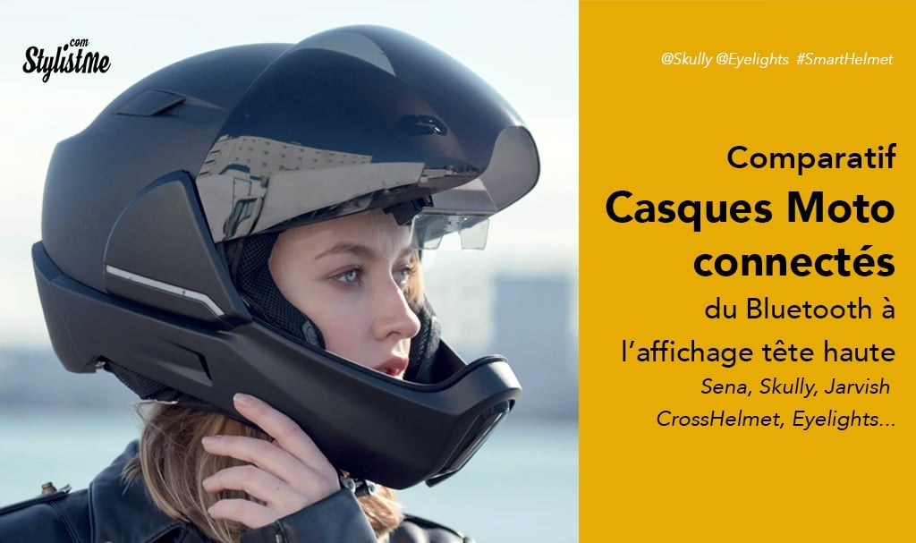 Casque moto connecté comparatif : Jarvish, Skully, Eyelights, Sena, Quin, LiveMap