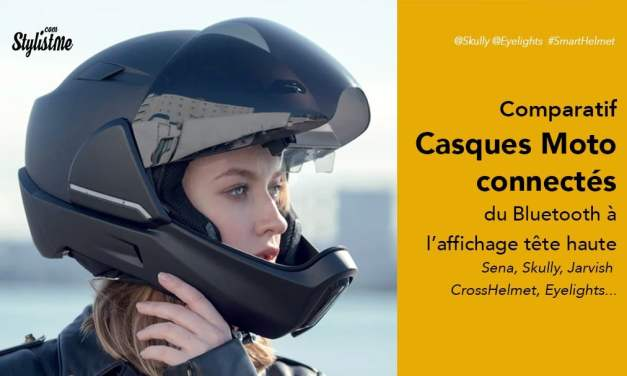 Casque moto connecté comparatif : Jarvish, Skully, Eyelights, Sena, Quin, LiveMap