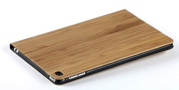 coque étuis support bois iPad mini
