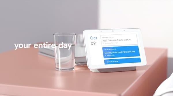 Google Home Hub journée personnalisée