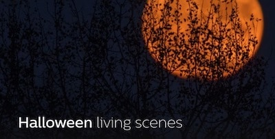 Halloween Living scene Philips Hue