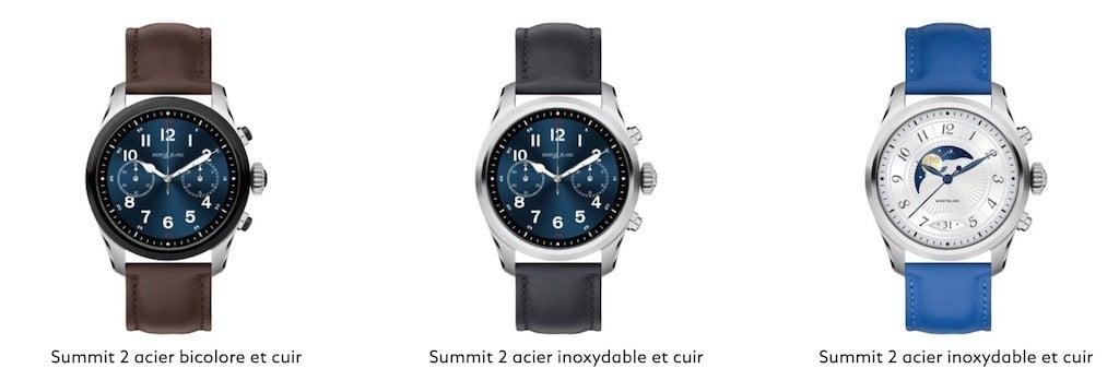 Comparatif montres Wear Os meilleure montre luxe connectée