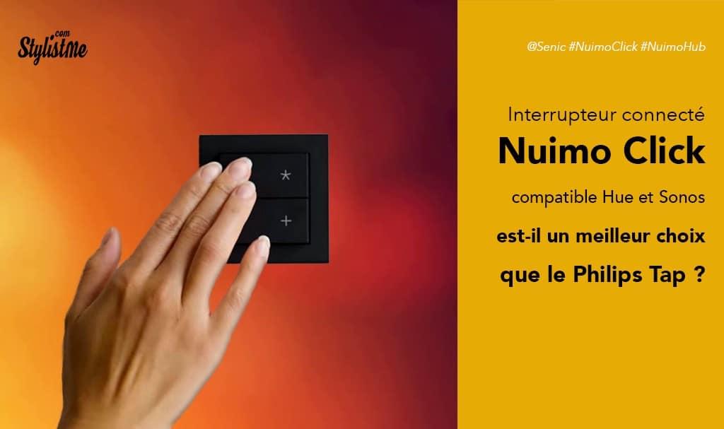 Nuimo Click avis test interrupteur compatible lampe Philips Hue et Sonos