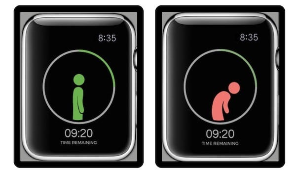 Upright Go alerte posture connecte apple watch
