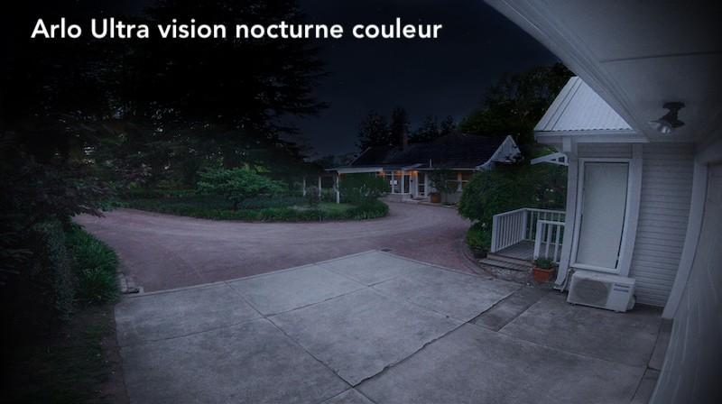 Arlo ultra avis prix test caméra surveillance connectée vision nocturne couleir