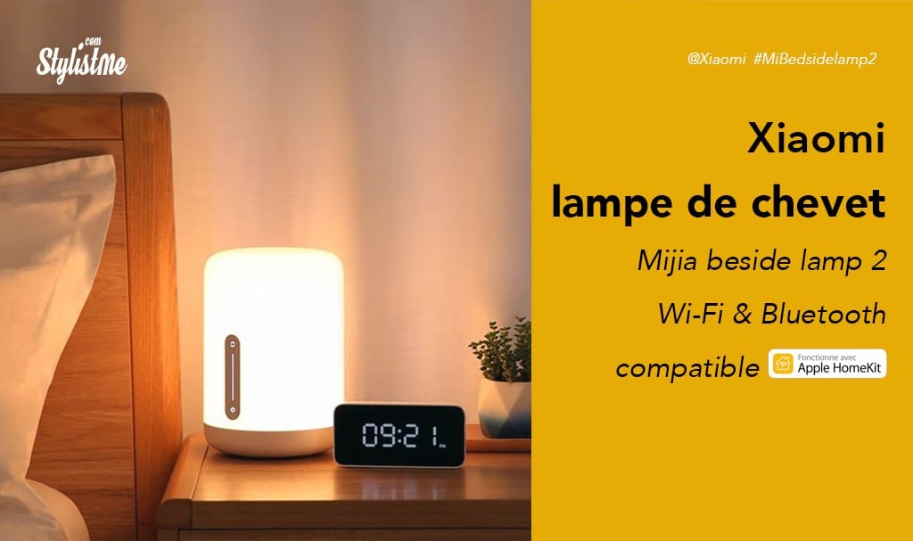 Mijia Bedside Lamp 2 avis test prix de la lampe connectée Wifi de Xiaomi