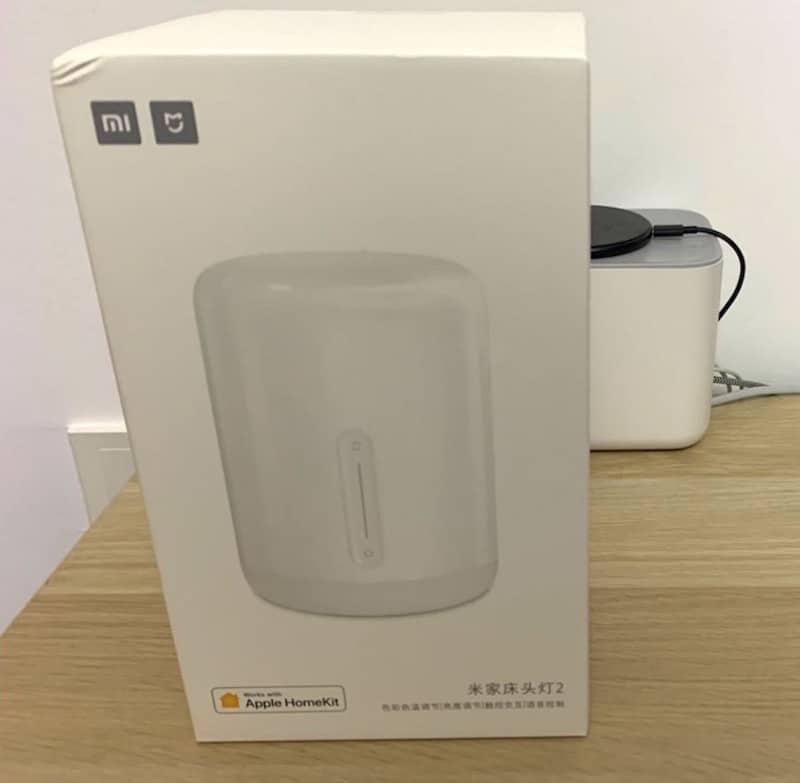 Mijia Bedside Lamp 2 avis test prix de la lampe connectée Wifi Xiaomi emballage