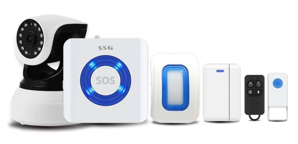 alarme connectée SSG gamme Home Google Home Amazon Echo