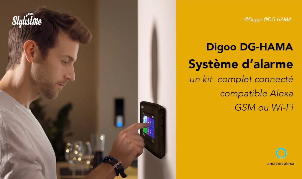 Digoo prix avis test du système d'alarme compatible Alexa Amazon Echo