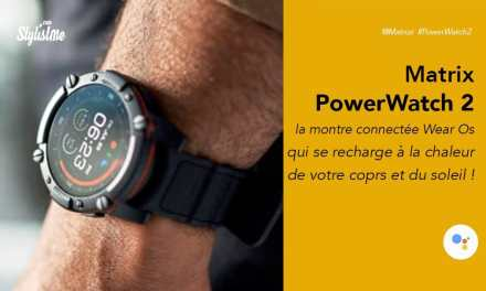 Matrix PowerWatch 2 prix avis test la montre connectée autonome