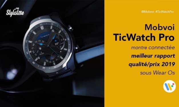 TicWatch Pro prix avis test montre connectée de Mobvoi sous Wear Os