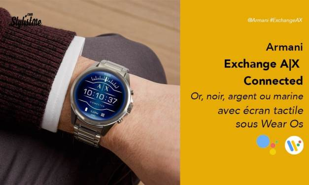 Armani Exchange AX Connected prix avis montre connectée Wear Os