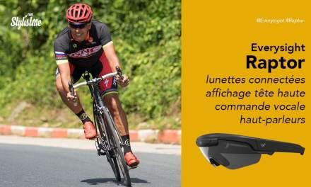 Everysight Raptor prix avis test lunettes connectées pour cyclistes et triathlètes