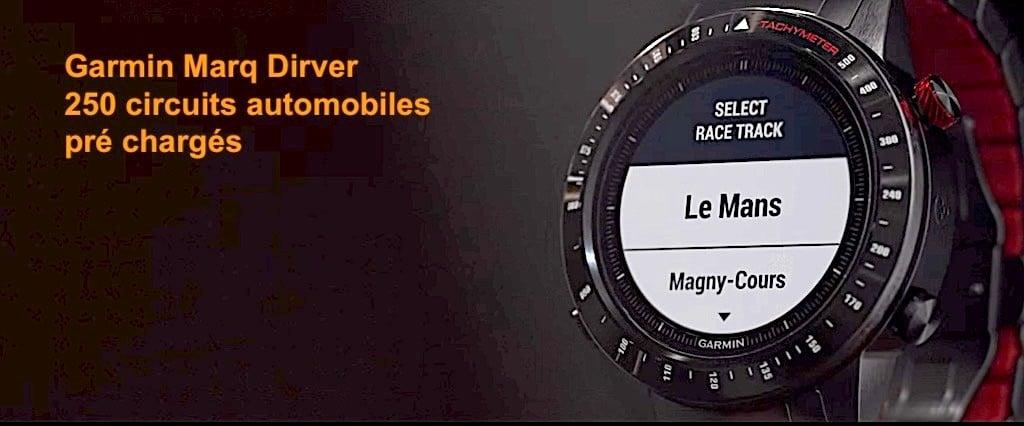 Garmin marq driver 250 circuits intégrés