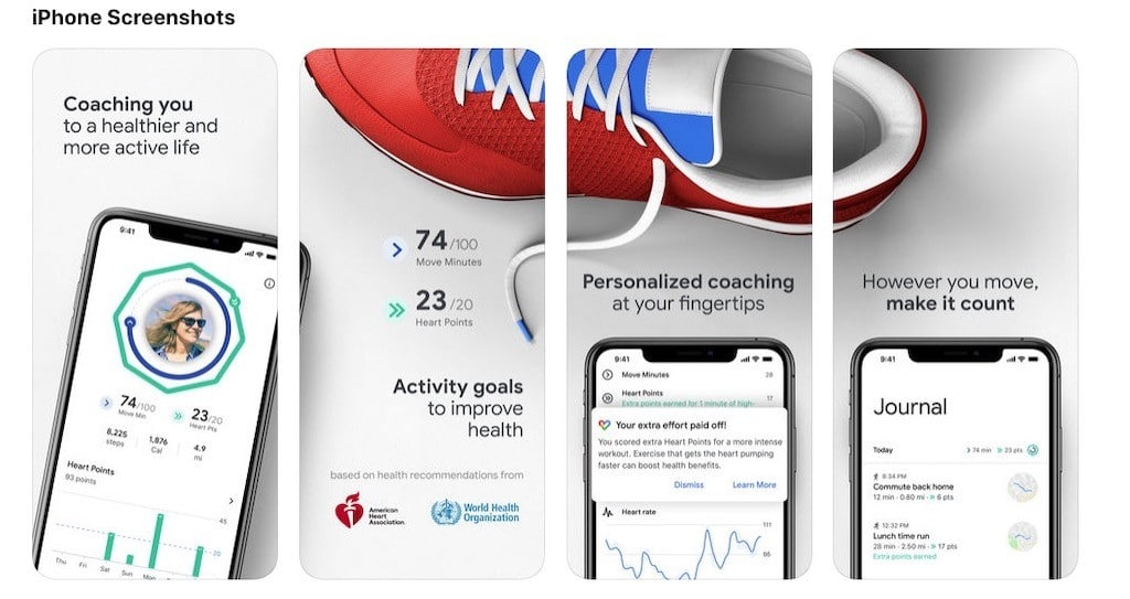 Google fit for ios montre wear os