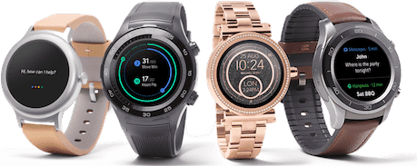 montre wear os pour iphone