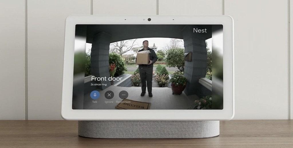 Affichage caméra sur Nest Hub Max