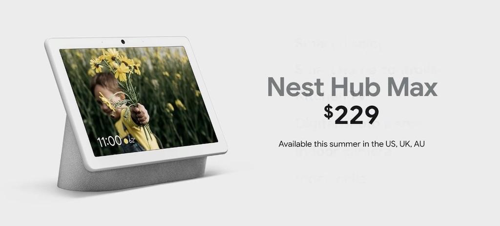 Nest Hub Max prix 229