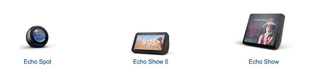 Amazon Echo Show 5 comparatif enceintes amazon echo