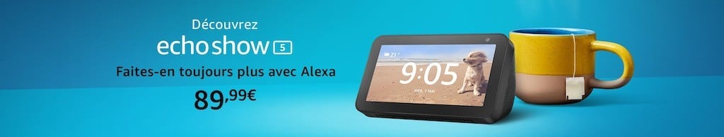 Amazon echo show prix 89 euros
