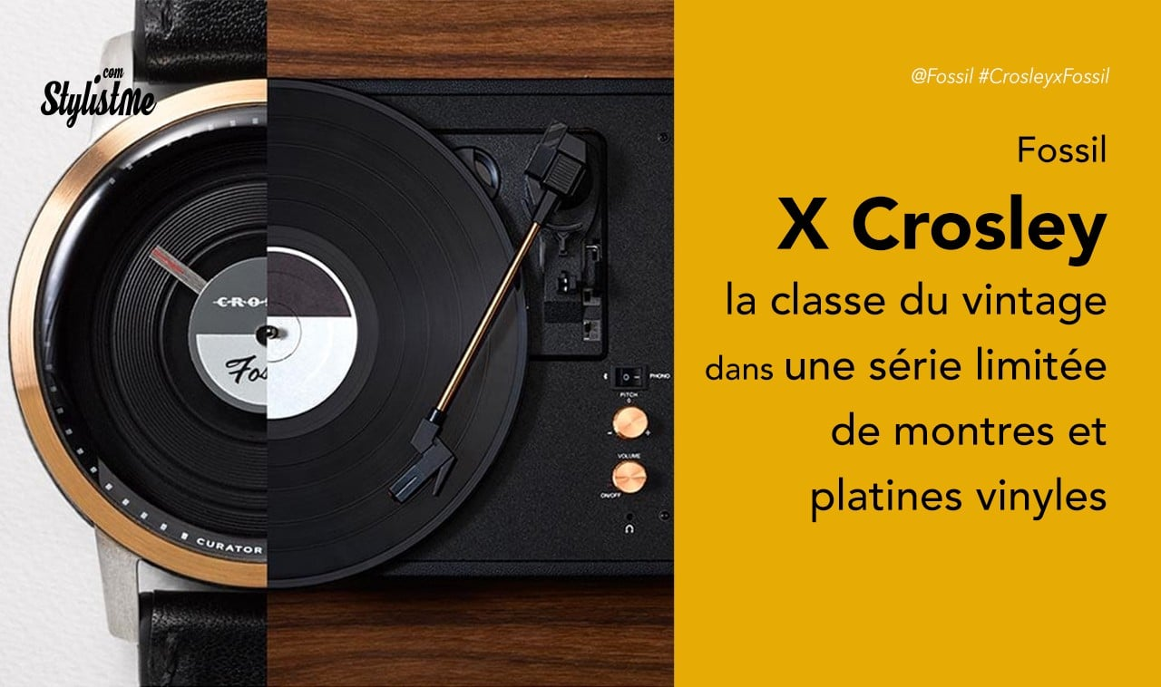 Fossil X Crosley une montre et une platine vinyle vintage en série limitée