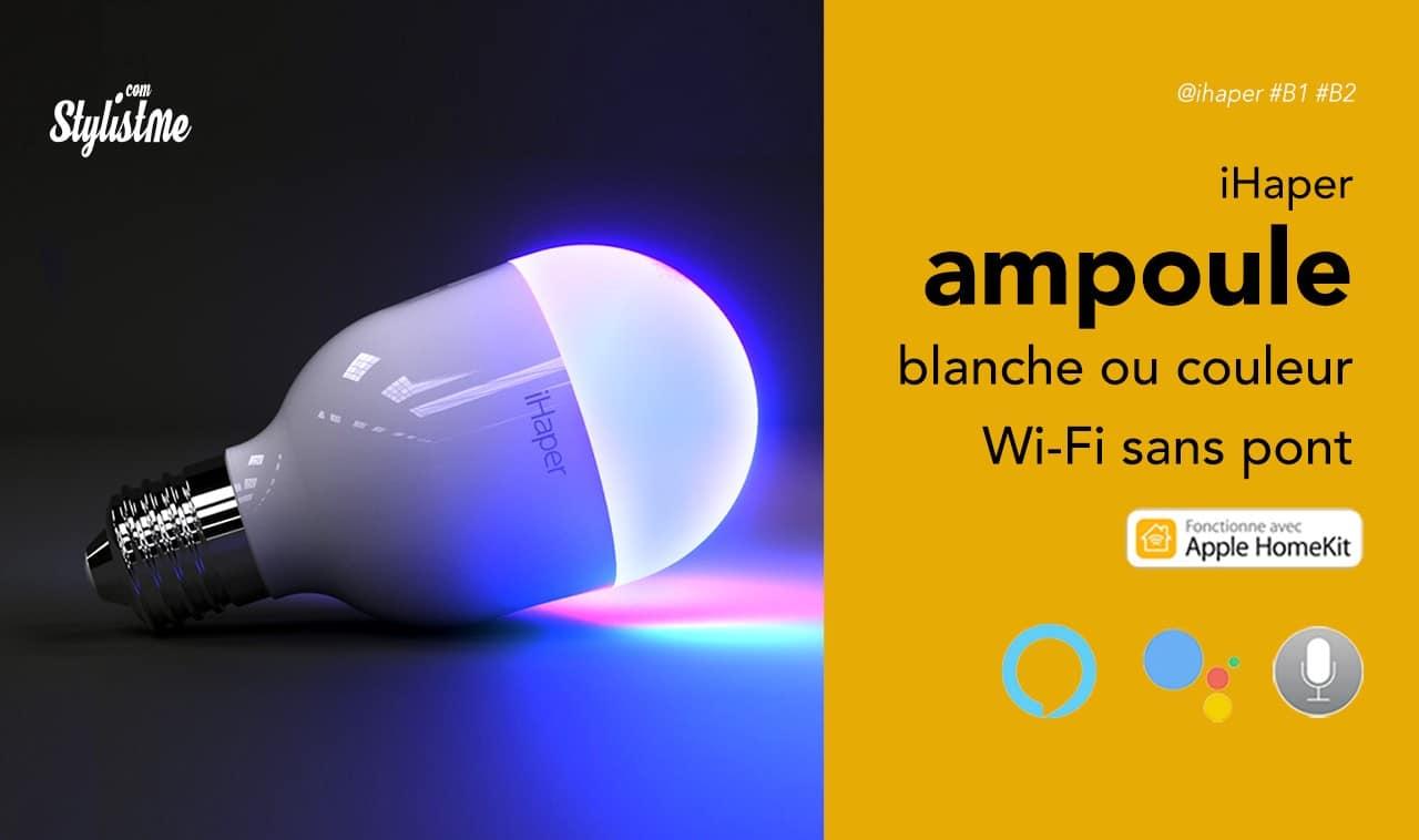 ihaper b2 ampoule connect e homekit d 39 apple sans hub. Black Bedroom Furniture Sets. Home Design Ideas