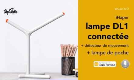 iHaper DL1 une lampe de bureau, détecteur et torche pour HomeKit
