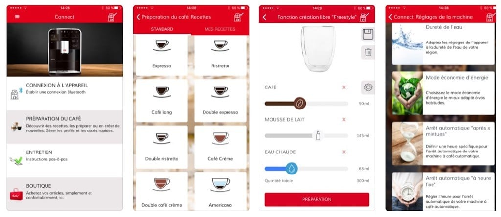 Machine à café connectée Melitta TS Smart