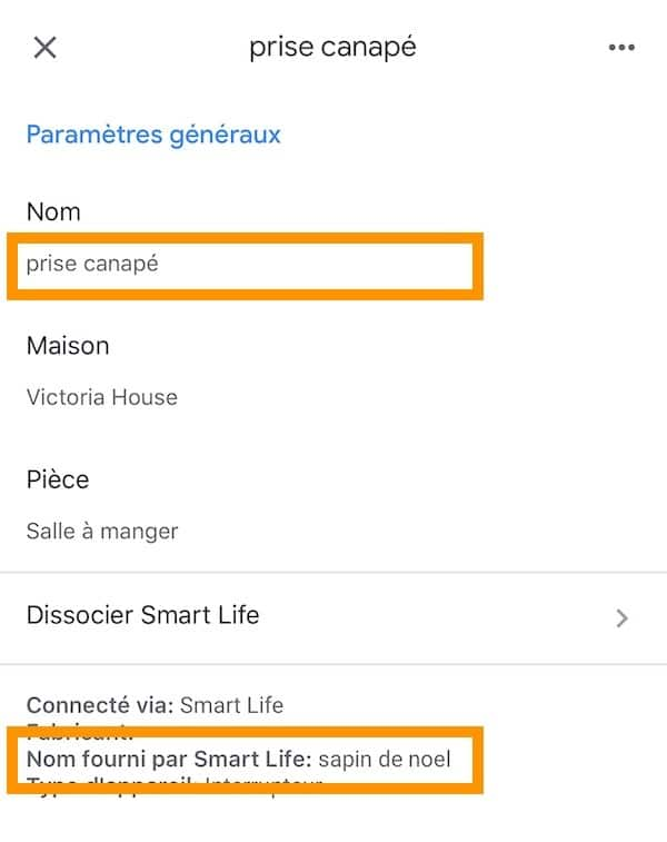 comment nommer appareil Google Home