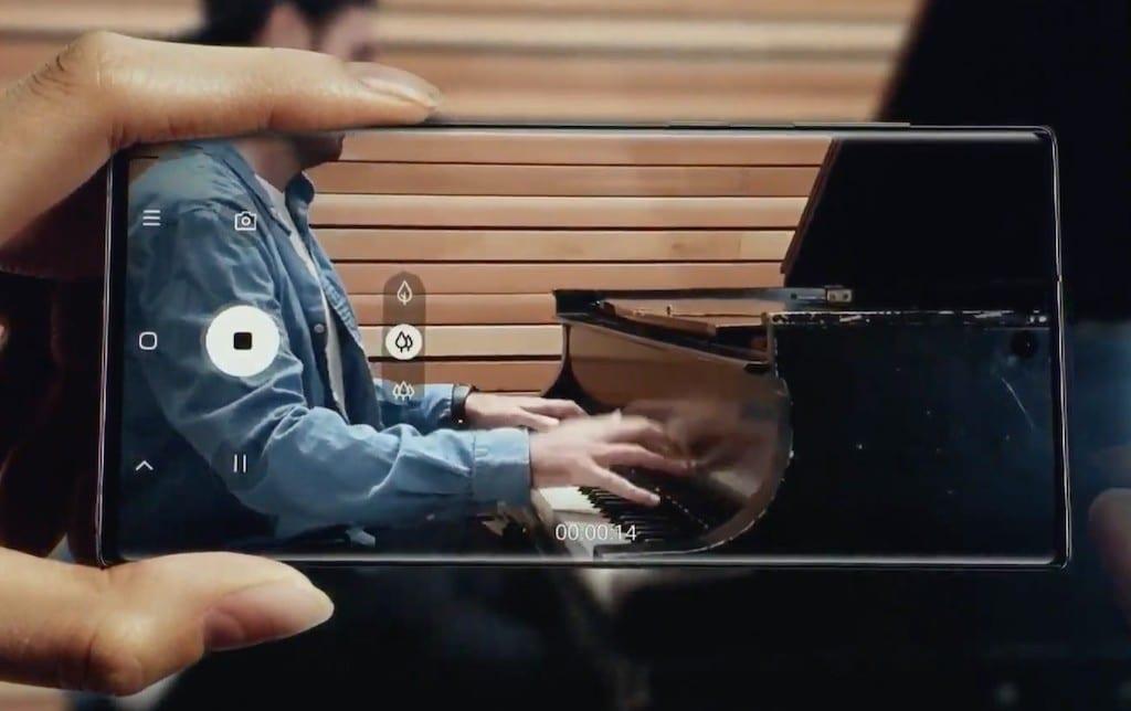 Zoom vidéo et audio Note 10